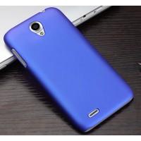 Пластиковый матовый чехол для Lenovo A859 Ideaphone Синий
