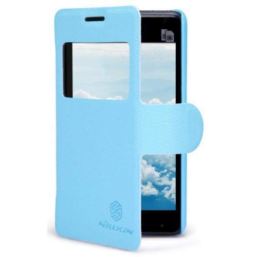 Чехол книжка с окном вызова для Sony Xperia E1