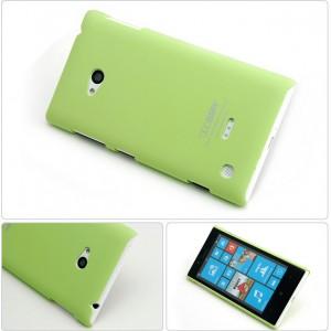Пластиковый матовый непрозрачный чехол для Nokia Lumia 730/735 Зеленый