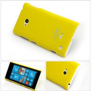 Пластиковый матовый непрозрачный чехол для Nokia Lumia 730/735 Желтый