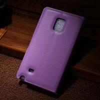Чехол портмоне подставка для Samsung Galaxy Note Edge Фиолетовый