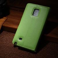 Чехол портмоне подставка для Samsung Galaxy Note Edge Зеленый