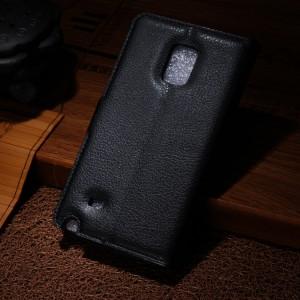 Чехол портмоне подставка для Samsung Galaxy Note Edge Черный