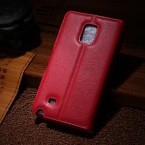 Чехол портмоне подставка для Samsung Galaxy Note Edge Красный