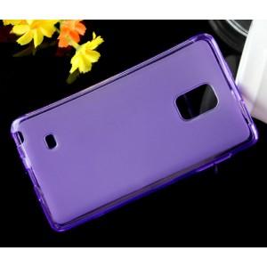 Силиконовый матовый чехол для Samsung Galaxy Note Edge Фиолетовый