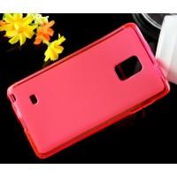 Силиконовый матовый чехол для Samsung Galaxy Note Edge Розовый