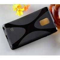 Силиконовый X чехол для Samsung Galaxy Note Edge Черный