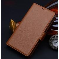 Кожаный чехол портмоне (нат. кожа) для Samsung Galaxy Note Edge Коричневый
