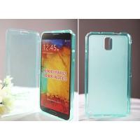 Силиконовый матовый полупрозрачный чехол флип для Samsung Galaxy Grand/Neo Голубой