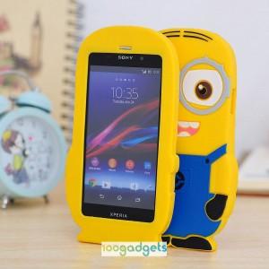 Силиконовый дизайнерский фигурный чехол HiMinion для Sony Xperia Z1
