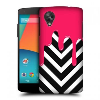 Пластиковый матовый дизайнерский чехол с принтом CandyPhone для Google LG Nexus 5