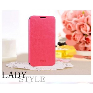 Глянцевый чехол флип подставка для Nokia Lumia 630 Розовый