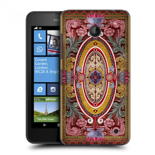 Пластиковый дизайнерский чехол с узорным принтом для Nokia Lumia 630