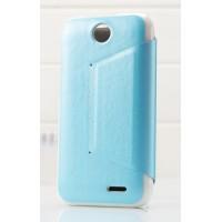 Чехол книжка-подставка для HTC Desire 310 серия Sense Голубой