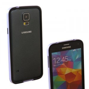 Двухкомпонентный антиударный бампер силикон/поликарбонат для Samsung Galaxy S5 (g900fd g900f g900h)