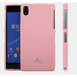 Силиконовый матовый непрозрачный чехол для Sony Xperia Z2 Розовый