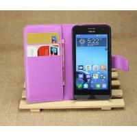Чехол портмоне подставка на пластиковой основе для ASUS Zenfone 4 (A400CG) Фиолетовый