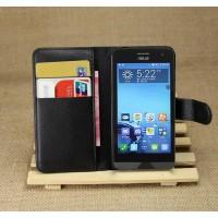 Чехол портмоне подставка на пластиковой основе для ASUS Zenfone 4 (A400CG) Черный