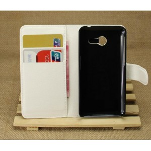 Чехол портмоне подставка на пластиковой основе для ASUS Zenfone 4 (A400CG) Белый
