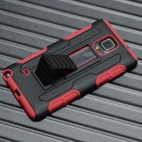 Антиударный чехол с поликарбонатной крышкой и крепежом для Samsung Galaxy Note 4 Красный