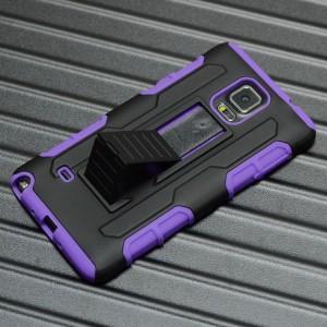 Антиударный чехол с поликарбонатной крышкой и крепежом для Samsung Galaxy Note 4