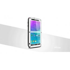 Ульрапротекторный пылевлагозащитный чехол металл/стекло для Samsung Galaxy Note 4 Белый