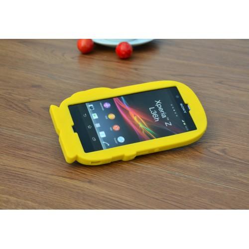 Силиконовый дизайнерский фигурный чехол для Sony Xperia Z