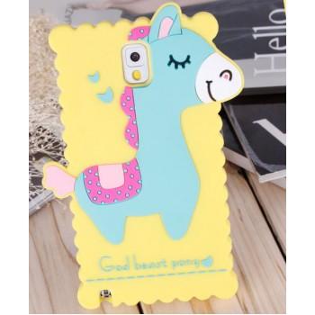 Силиконовый дизайнерский фигурный чехол Пони для Samsung Galaxy Note 3