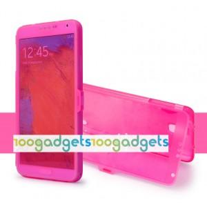 Силиконовый матовый чехол смарт флип с полупрозрачной крышкой для Samsung Galaxy Note 3 Пурпурный