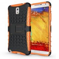 Силиконовый чехол экстрим защита для Samsung Galaxy Note 3 Оранжевый