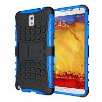 Силиконовый чехол экстрим защита для Samsung Galaxy Note 3 Синий