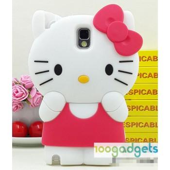 Силиконовый дизайнерский фигурный чехол Kitty для Samsung Galaxy Note 3 (n9005 n9000)