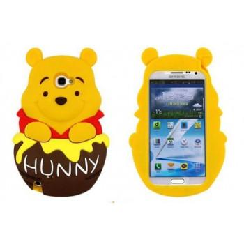 Силиконовый дизайнерский фигурный чехол серия Винни для Samsung Galaxy Note 3