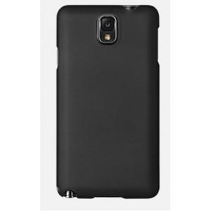 Пластиковый матовый чехол для Samsung Galaxy Note 3 Черный