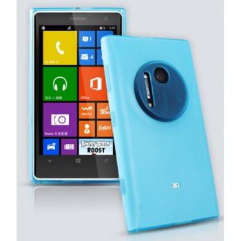 Силиконовый матовый полупрозрачный чехол с защитными заглушками разъемов для Nokia Lumia 1020