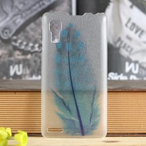 Пластиковый флуоресцентный матовый полупрозрачный чехол с принтом для Lenovo P780 Ideaphone