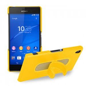 Кожаный чехол накладка (нат. кожа) для Sony Xperia Z3