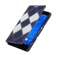 Кожаный чехол горизонтальная книжка (2 вида нат. кожи) для Sony Xperia Z3