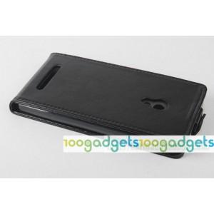Чехол вертикальная книжка на силиконовой основе с магнитной застежкой для ASUS Zenfone 5 Черный