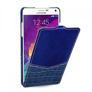 Кожаный чехол горизонтальная книжка (нат. кожа двух видов) для Samsung Galaxy Note 4