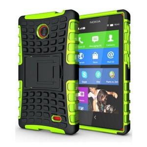 Чехол экстрим защита для Nokia X / X+ Зеленый