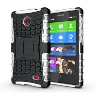 Чехол экстрим защита для Nokia X / X+ Белый