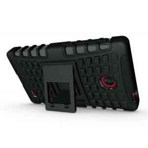 Чехол экстрим защита для Nokia X / X+ Черный