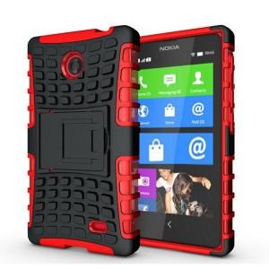 Чехол экстрим защита для Nokia X / X+ Красный