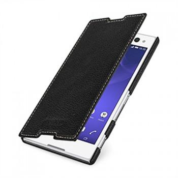 Кожаный чехол горизонтальная книжка (нат. кожа) для Sony Xperia C3