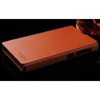 Чехол-флип для Nokia X / X+ Коричневый