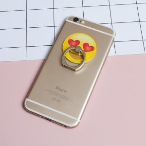 Фигурное клеевое кольцо-держатель дизайн Эмоджи