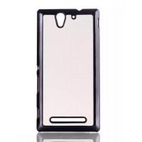 Текстурный чехол-накладка (эффект кожи) для Sony Xperia C3 Белый