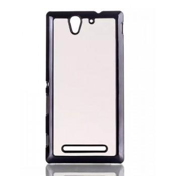 Текстурный чехол-накладка (эффект кожи) для Sony Xperia C3