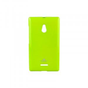 Силиконовый чехол серии Mercury для Nokia XL Зеленый